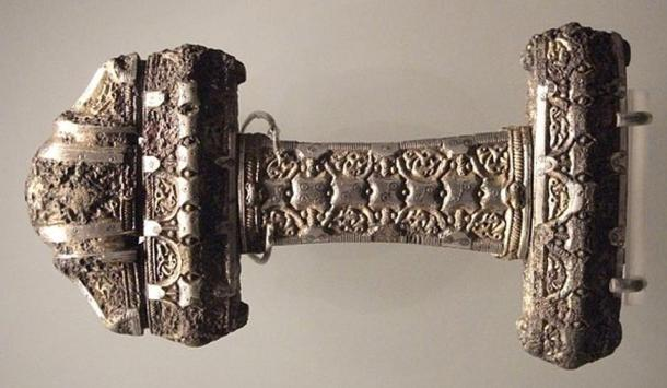 An elaborate Viking sword hilt, 9th century, Museum of Scotland