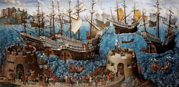 The Embarkation of Henry VIII at Dover
