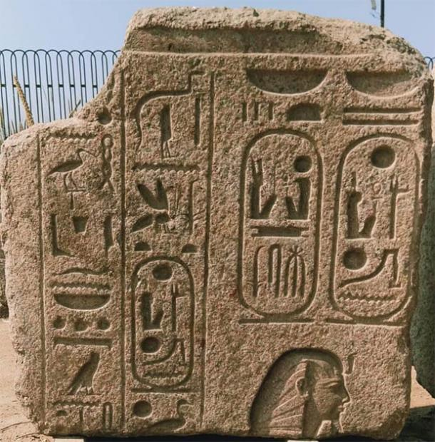 The engraved limestone blocks date from the Coptic era. (Ministry of Tourism and Antiquities)