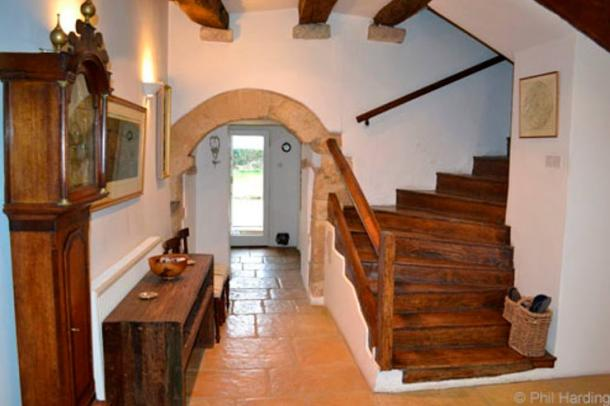The entrance hall in Saltford Manor
