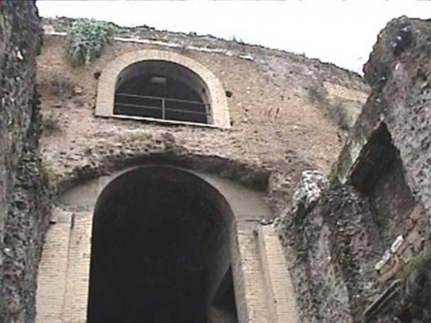 The entryway to the mausoleum of Augustus.