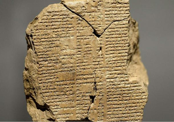 A fragment of the epic Gilgamesh in cuneiform from around 2003 to 1595 BC