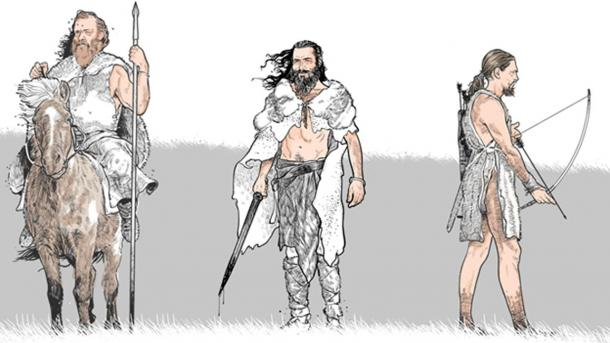 Artist's depiction of how warriors were equipped for the battle.
