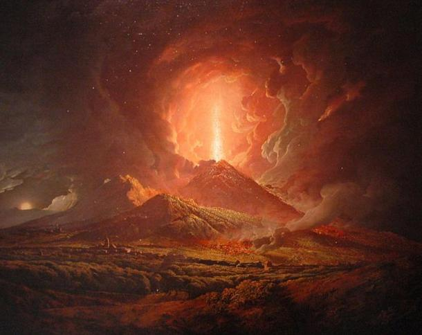 An eruption of Vesuvius seen from Portici, by Joseph Wright (ca. 1774-6).