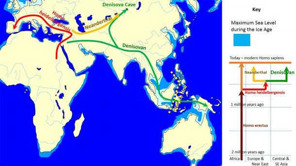The spread and evolution of Denisovans (John D. Croft / CC BY-SA 3.0)