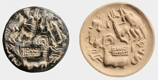 An example of a Dilmun Stamp seal, Middle Bronze Age