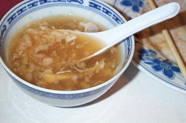 An example of bird nest soup.