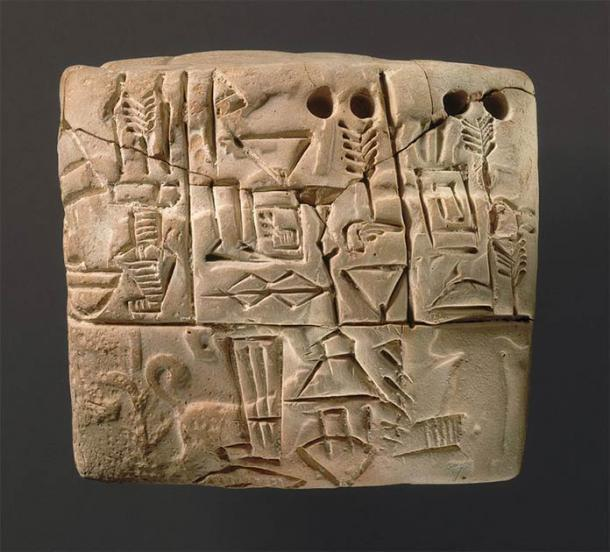 """An example of a cuneiform tablet which were also used to """"record"""" ancient Mesopotamian lullabies. (Metropolitan Museum of Art / CC0)"""