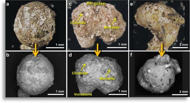 Typical examples of Abu Hureyra (AH) meltglass. (Moore, et al. 2020)