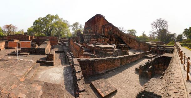 The excavated ruins of Nalanda University Site, India (Thotsaporn / Adobe Stock)