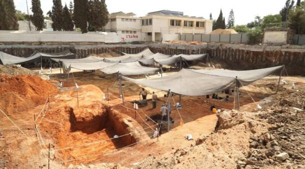 The excavation area. Photographic credit: EYECON Productions, courtesy of the Israel Antiquities Authority.