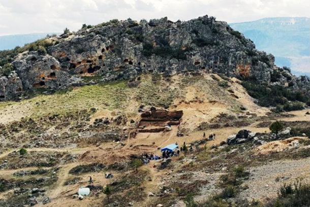The excavation site in Karaman, Turkey.