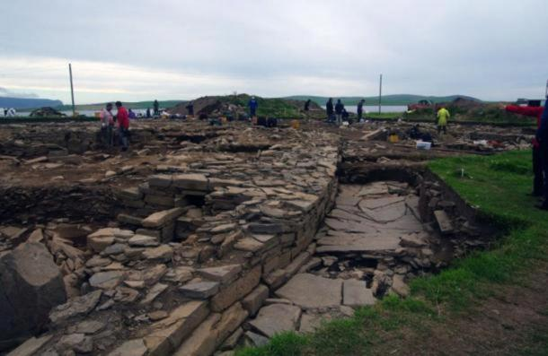 Excavations at the Ness of Brodgar on mainland Orkney
