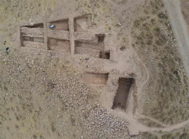 A view of the excavations of the main quadrangle of the Uzundara fortress in 2021. (Institute of Archaeology RAS)
