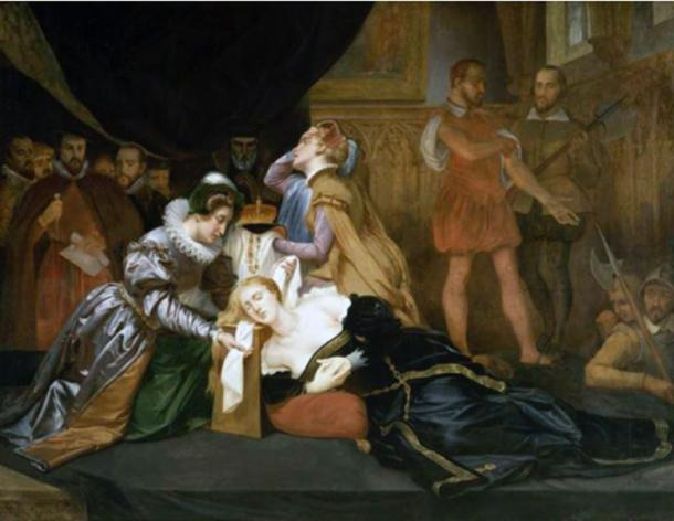 The execution of Mary, Queen of Scots.