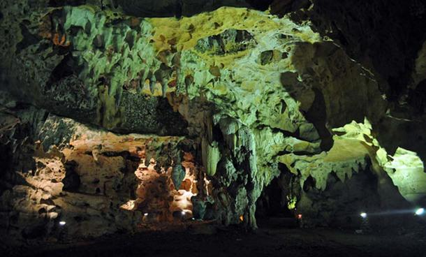 The expansive Loltun Cave, Mexico.