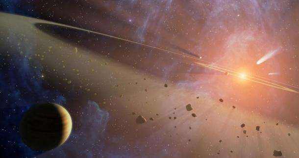 One explanation for the star's dimming is the break-up of exocomets around the star