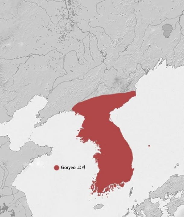 The extent of the Koryo (Goryo) Dynasty in 1389.