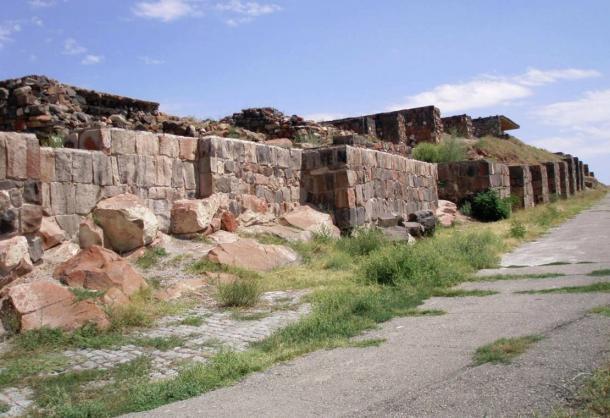 Southeast entrance to Erebuni Fortress. Restored by mason Andranik Sargsyan.