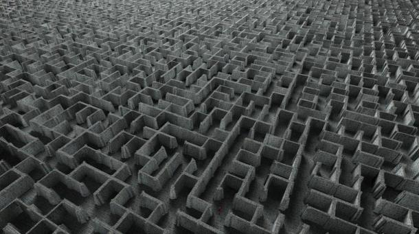 An extremely complex labyrinth