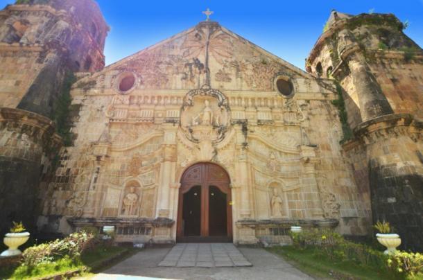 Façade of old church in Miagao, Philippines (webstocker/ Adobe Stock)