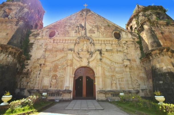 Façade of old church in Miagao, Philippines (webstocker/ Adobe Stock)