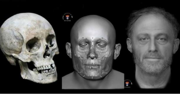 The facial reconstruction of Context 958