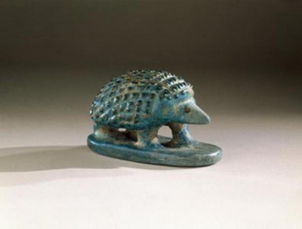 A faience hedgehog from Middle Kingdom Egypt.
