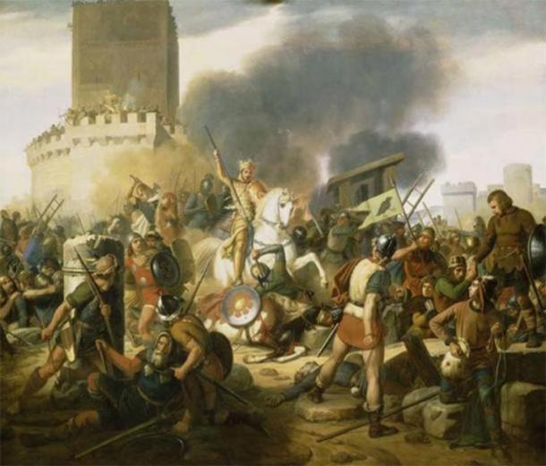 The failed Viking siege of Paris in 885-6 AD. (Public Domain)