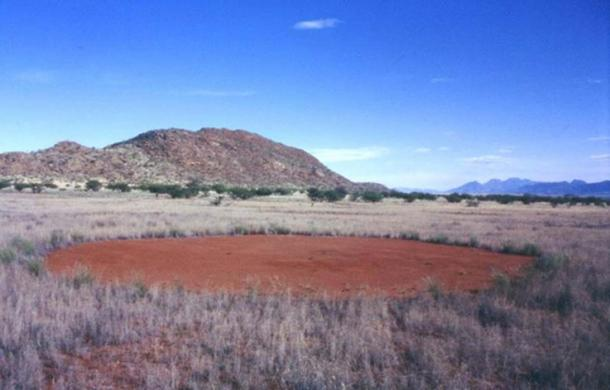 A fairy circle in Namibia.