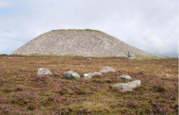 The fairy queen Meadb's cairn at the summit of Knocknarea, Ireland.