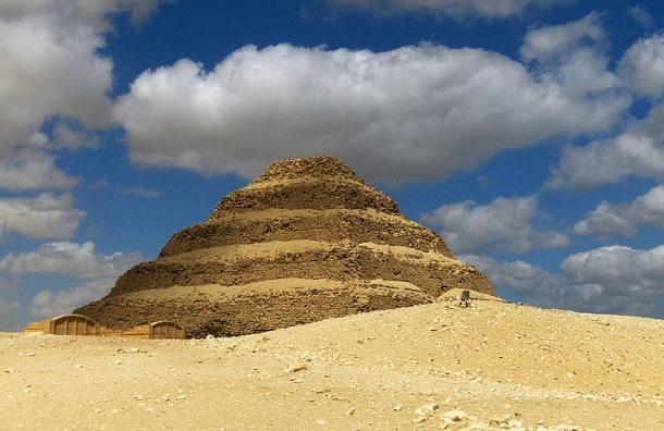 The famed stepped Pyramid of Djoser at Saqqara, the Memphis necropolis