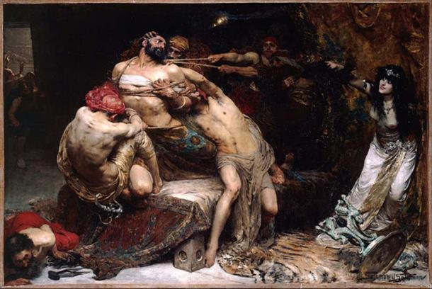 Was famous Danite, Samson, really a Greek? 'Samson' by Solomon J Solomon, 1860 – 1927
