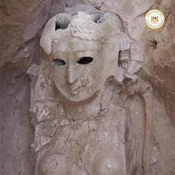 A female mummy that was enclosed in a full body death mask. (Egyptian Ministry of Tourism and Antiquities)