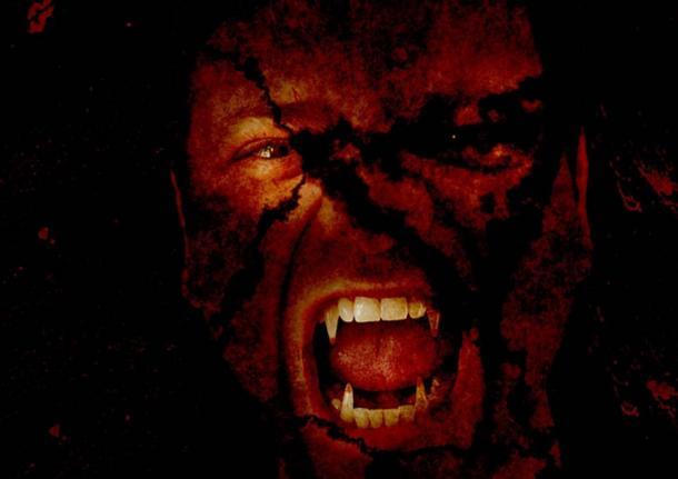 Artist's representation of a vampire