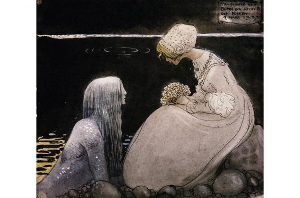 """Agneta & the Sea King"" by John Bauer."
