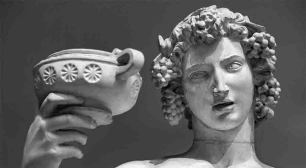 Statue of Dionysus Bacchus.