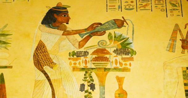Ancient Egyptian preparing food.