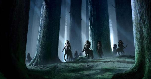 Centaurs in the Forbidden Forest.