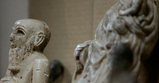 Some of the artefacts found after disappearing from the National Museum of Iraq. Ceerwan Aziz
