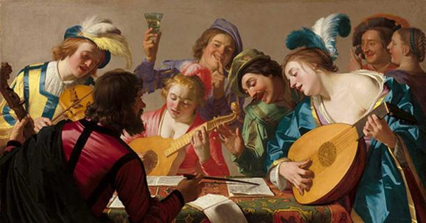 Gerard van Honthorst`s 1623 painting 'The Concert.'