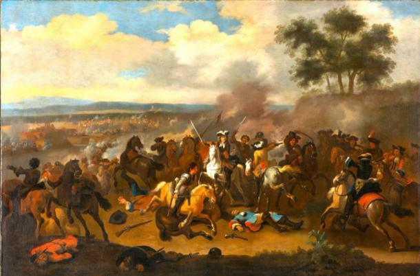 The Battle of the Boyne (Ireland) between James II and William III, July 12, 1690. Source: Scolaire / Public Domain.