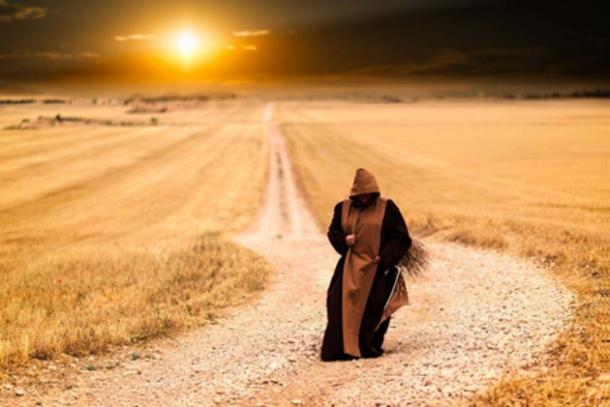 Mysterious Monk Walking Alone During Sunset. Source: Igor Ovsyannykov / CC BY 2.0