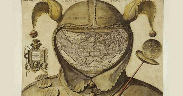 Cartographic Comedy in the 16th century: The Fool's Cap Map of the World