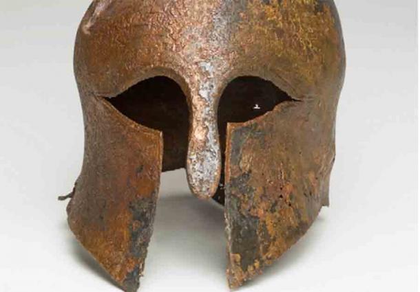 Customized Bronze Corinthian Helmet Found In Israeli Waters
