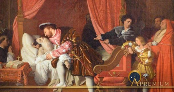 The Death of Leonardo da Vinci, by Jean Auguste Dominique Ingres, (1818) (Public Domain)