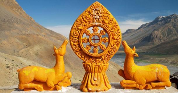 The Dharma Wheel.