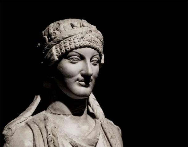 Bust of an Etruscan woman. Source: Ana Tramont / Adobe Stock