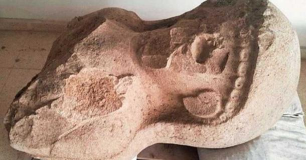 The 3,000-year-old female statue uncovered at the archaeological site of Tayinat in Turkey.