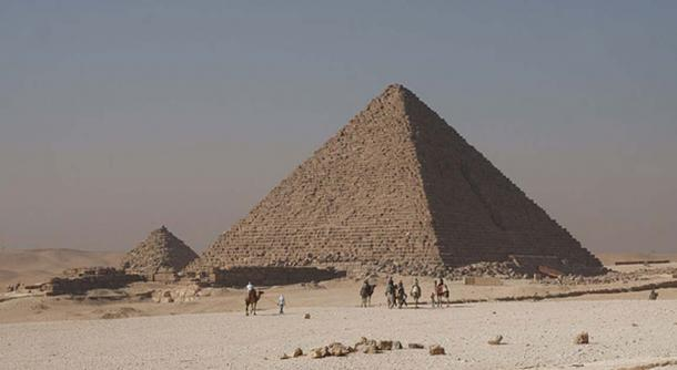 Colored Giza Casing Stones, Menkaure`s Pyramid.